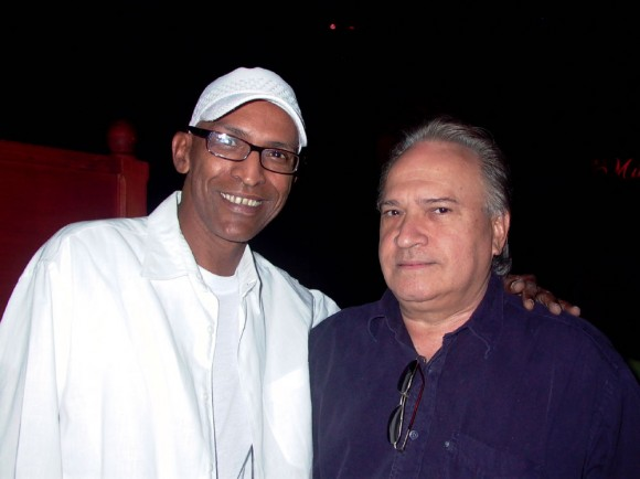 Ricardo Leyva y Frank Fernández, durante la presentación.