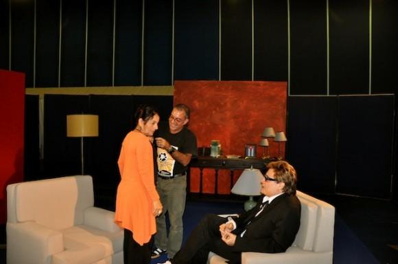 """Adria Santana y Amaury Pérez en """"Con 2 que se quieran"""". Foto: Petí"""