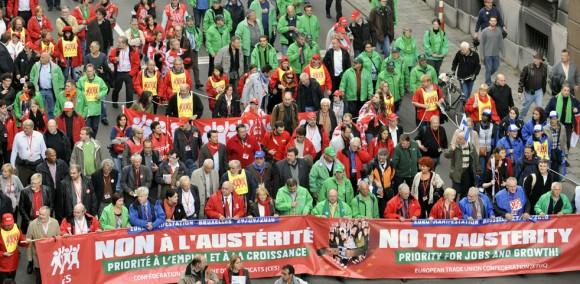 Demostraciones populares en Bruselas