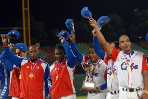 El equipo cubano se proclamó campeón de la XVII Copa Intercontinental de Beisbol 201, en Taichung, Taipei de China, el 31 de octubre de 2010. Foto:Marcelino Vazquez/AIN