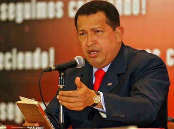 El Presidente Hugo Chávez