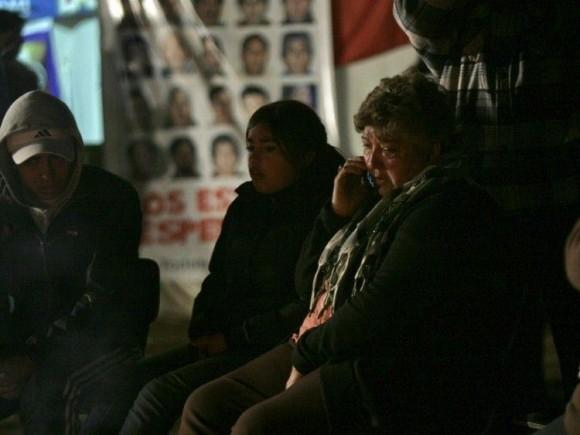 CHILE. Belgica Ramírez la hermana de Mario Gómez, uno de los 33 mineros atrapados dentro de la mina San José.(AP)