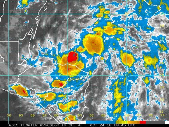 Imagen de Richard, satélite infrarrojo. Imagen NOAA