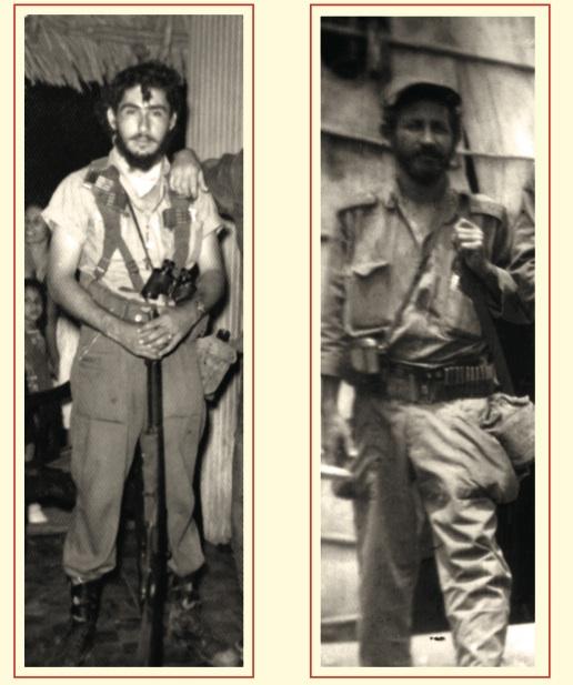 Edilberto González, conocido como Puerto Padre, miembro de la Columna 1 del Ejército Rebelde. El combatiente Lázaro Soltura, jefe de pelotón de las fuer- zas bajo el mando de Calixto García, en el Tercer Frente.