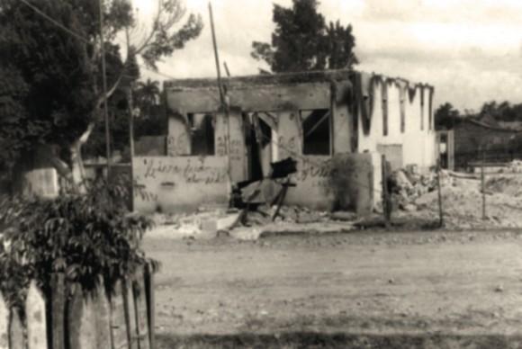 Cuartel de Maffo atacado por los rebeldes, diciembre de 1958.