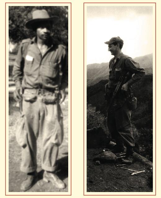 Calixto García Martínez, asaltante al cuartel Carlos Manuel de Céspedes, expedicionario del Granma y comandante del Ejército Rebelde. Y a la derecha, el capitán Ignacio Pérez, quien cayó en combate en San José del Retiro, Jiguaní, el 19 de diciembre de 1958.