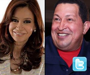 Cristina Fernández y Hugo Chávez (Twitter)
