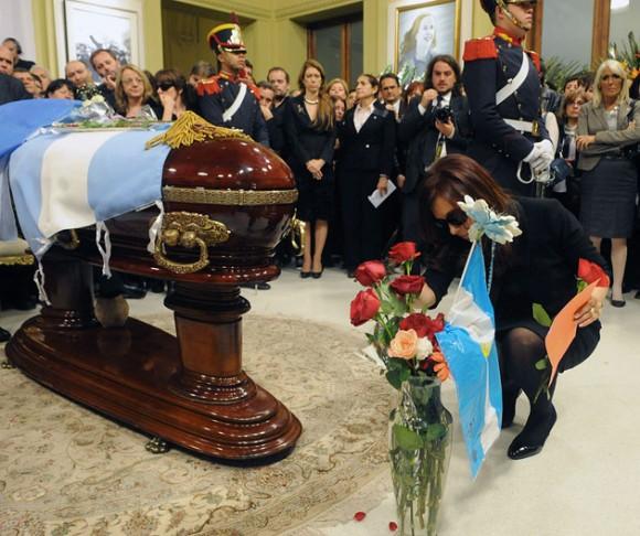 Cristina Fernández en el velatorio