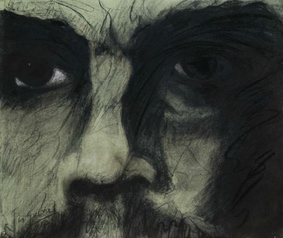 Dagoberto Jaquinet: El secreto de tus ojos. Técnica mixta sobre tela. 52 x 50 cm, 2010