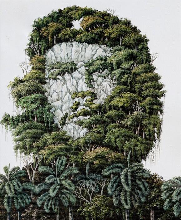 Dausell Valdés: Son los sueños todavía. Acrílico sobre tela 43 x 36 cm, 2010