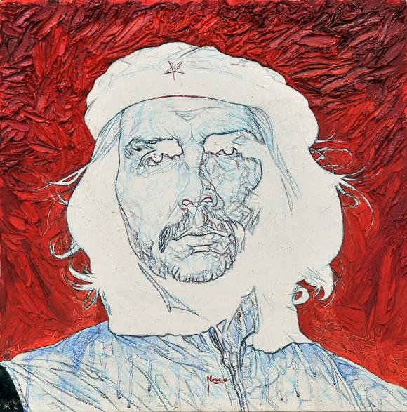 Eduardo Méndez Navarro: Filo y pureza. Técnica mixta sobre tela, 40 x 40 cm. 2010