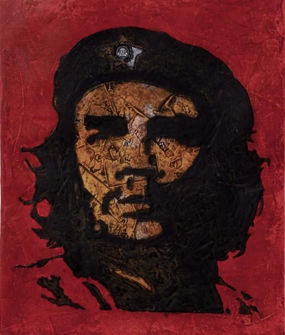 Eduardo Roca (Choco): Che Comandante, amigo. Colagrafia sobre cartulina, 77 x 63 cm, 2010.