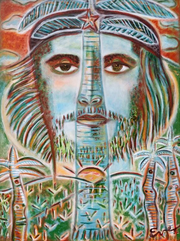 Ever Fonseca: Che montaña de gloria. Técnica mixta sobre tela. 60 x 46 cm, 2010