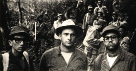 De izquierda a derecha, los dirigentes de la FEU José Fontanil, Juan Nuiry y Omar Fernández, que integraban la Columna 32 del Cuarto Frente.