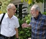 Fidel Castro y Michel Chossudovsky en La Habana, el 14 de octubre de 2010.