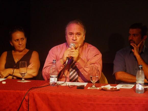 Jesús Gómez Cairo, musicólogo, Ela Ramos, Gerente  General de Bis Music, Frank Fernández y Jorge Ruiz, Presidente de ARTex.