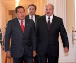El Presidente Chávez y Aleksandr Lukashenko, Presidente de Bielorrusia