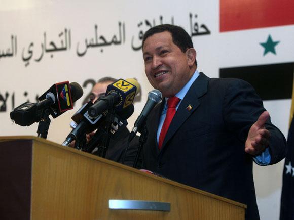 Hugo Chávez en Damasco