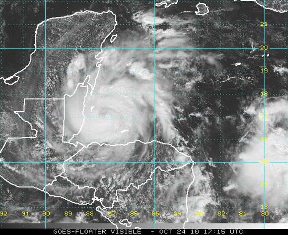 Imagen de Richard, satélite visible. (NOAA)