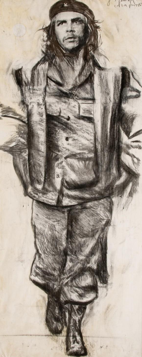 "Javier Guerra, de la serie ""Hasta siempre"". Técnica mixta sobre tela, 360 x 140 cm, 2008."