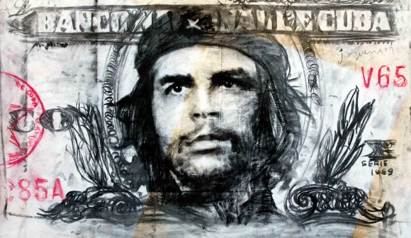 "Javier Guerra, de la serie ""Hasta Siempre"". Técnica mixta sobre tela 160 x120 cm, 2009."