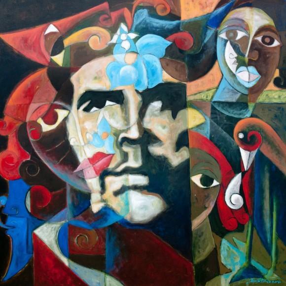 José Antonio Echavarría: La era está pariendo un corazón. Técnica mixta sobre tela, 00 x 100 cm, 2010