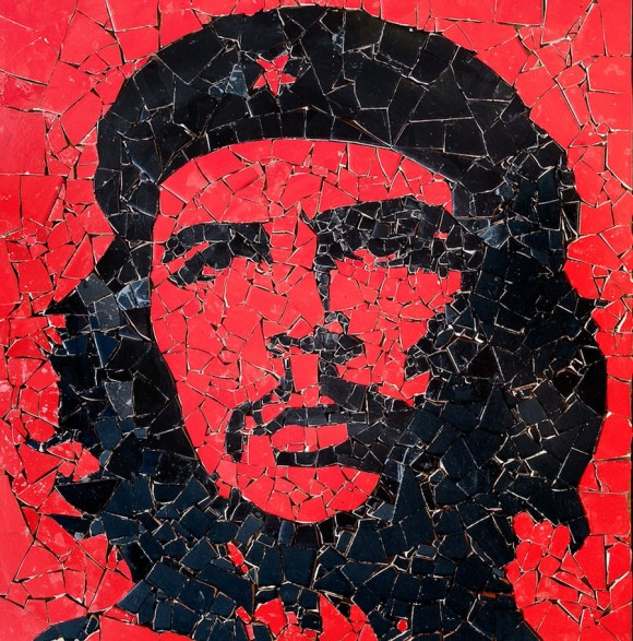 Jose Fuster: Guerrillero Heroico. Cerámica esmaltada, 60 x 59 cm, 2010