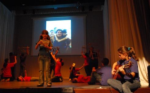 Ensayo de obra de La Colmenita dedicada a los Cinco Héroes: Ramón. Foto: Dianik Flores