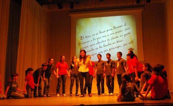Ensayo de obra de La Colmenita dedicada a los Cinco Héroes: Frase. Foto: Dianik Flores