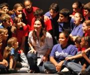 Ensayo de obra de La Colmenita dedicada a los Cinco Héroes: La Maestra y sus alumnos. Foto: Dianik Flores