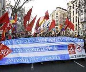 Exigen en Córdoba, España, cese del bloqueo norteamericano impuesto a Cuba