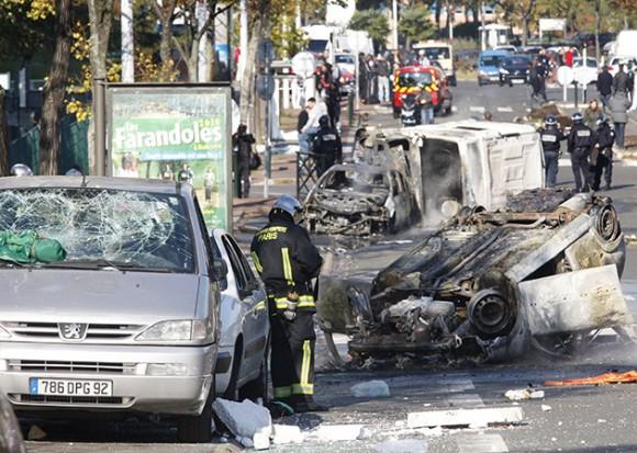 jornada de protestas por la reforma de pensiones planeada por el presidente Nicolas Sarkozy. Foto AFP, Thomas Samson