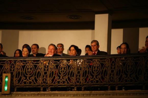 Raúl en la Inauguración del Festival de Ballet. Foto: La Jiribilla