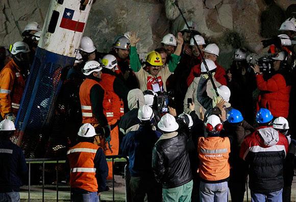 Rescate de los mineros chilenos atrapados hace 69 días
