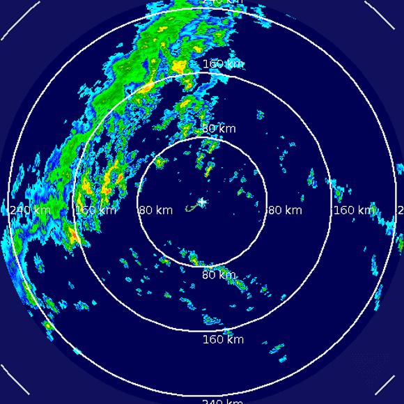 Imagen del Radar de las Bermudas