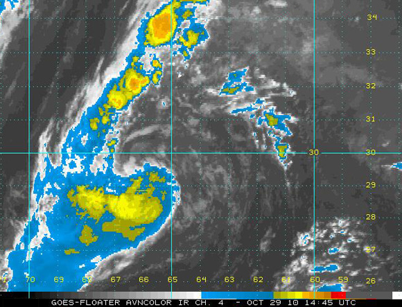 Shary, Imagen del Satélite Infrarrojo (NOAA)