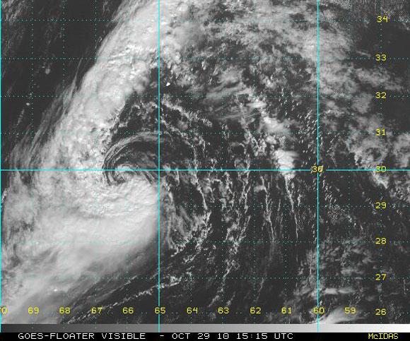 Shary, imagen visible del satélite (NOAA)
