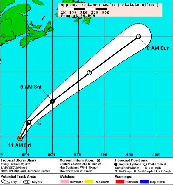 Pronóstico de Trayectoria de Shary (NOAA)