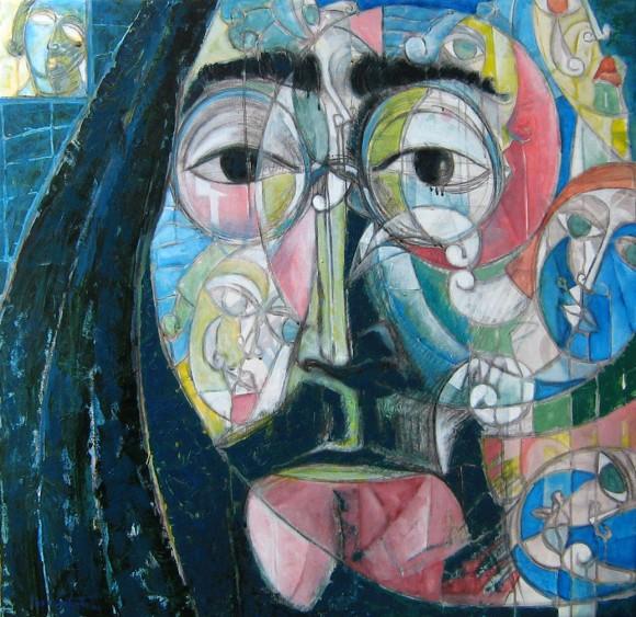 Soy un soñador. Acrílico sobre lienzo, 100 x 100 cm. 2009
