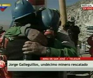 Undécimo minero chileno en ser rescatado