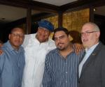 Marsalis junto a Chucho Valdés, el destacado músico puertorriqueño Calos Enrique  y el Director de la JLCO, Adrian Ellis
