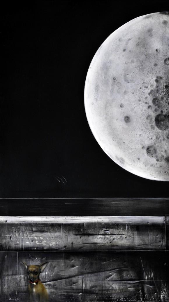 Y Mabe dónde está. Acrílico sobre tela, 175 x 102 cm, 2010
