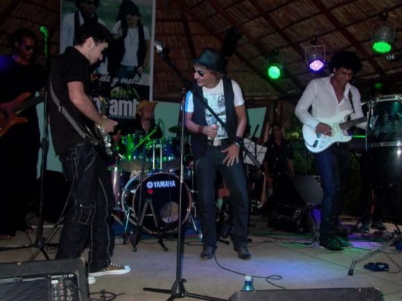 """Grupo Karamba en la presentación  """"de ida y vuelta""""."""