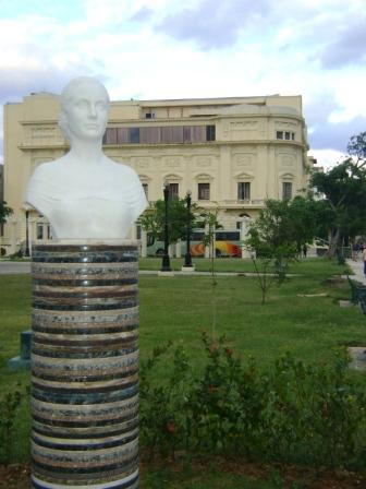 Busto de Eva Perón en La Habana Foto: Rubén Sánchez Rivero