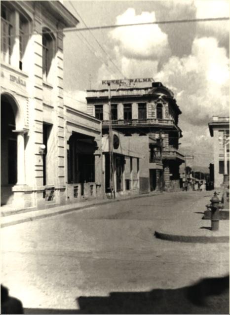 Hotel Palma, lugar donde se encontraban atrincherados los militares de la tiranía, en diciembre de 1958.