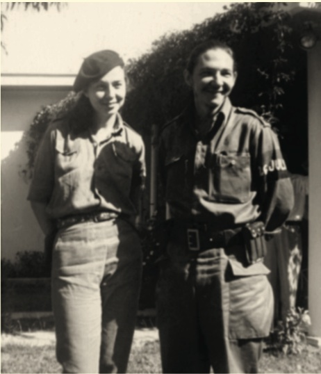 Vilma y Raúl en Palma Soriano, fines de diciembre de 1958.
