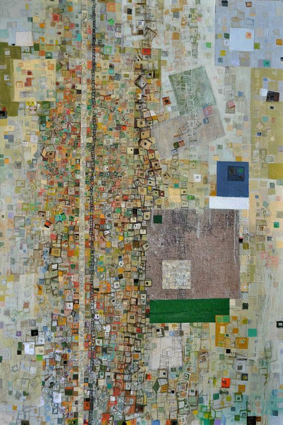Enrique Báster. De la serie Autocracia, Óleo, lienzo y mixta 150 X 100 cm, 2010