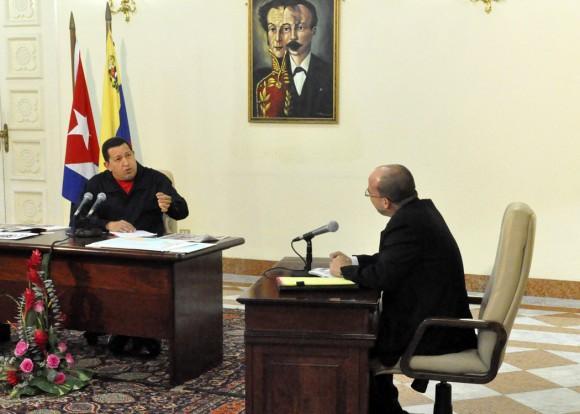 Chávez: los pueblos latinoamericanos están obligados a unirse para triunfar. Foto Estudios Revolución