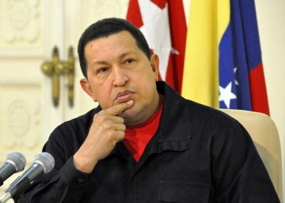Hugo Chávez en entrevista con el periodista Randy Alonso en La Habana  Foto Estudios Revolución