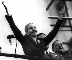 Argentina recuerda a Evita, a 60 años de su muerte